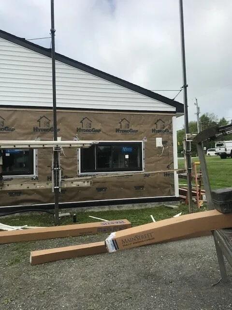 Commercial siding installation from Gaydos Flooring in Elverson, PA