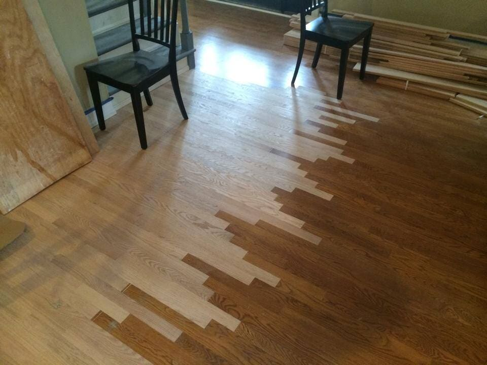 Hardwood flooring repair to be finished in Jeffersontown, KY from Unique Flooring Solutions