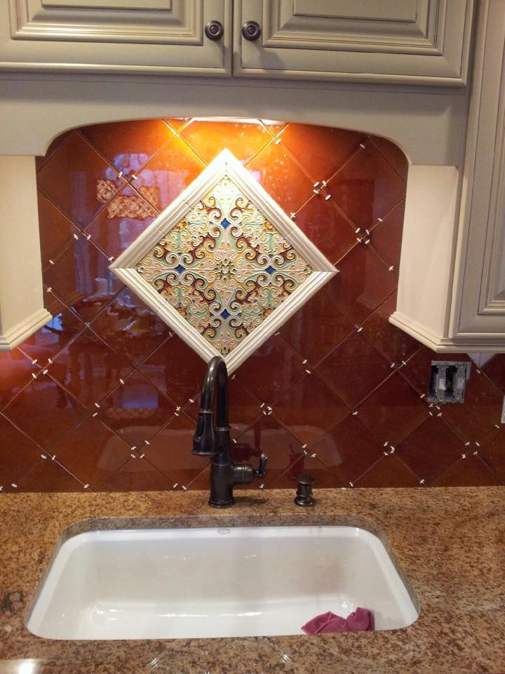 Custom mosaic backsplash piece in Jeffersonville, IN from Unique Flooring Solutions