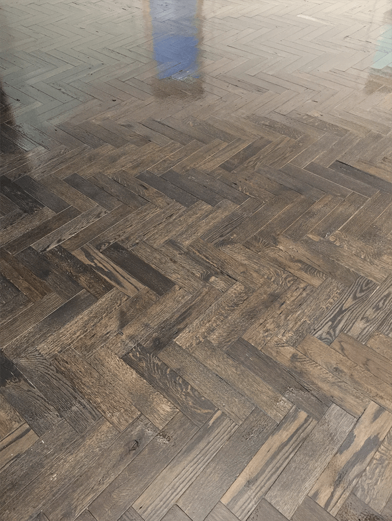 Herringbone wood floor in Lyndon, KY from Unique Flooring Solutions