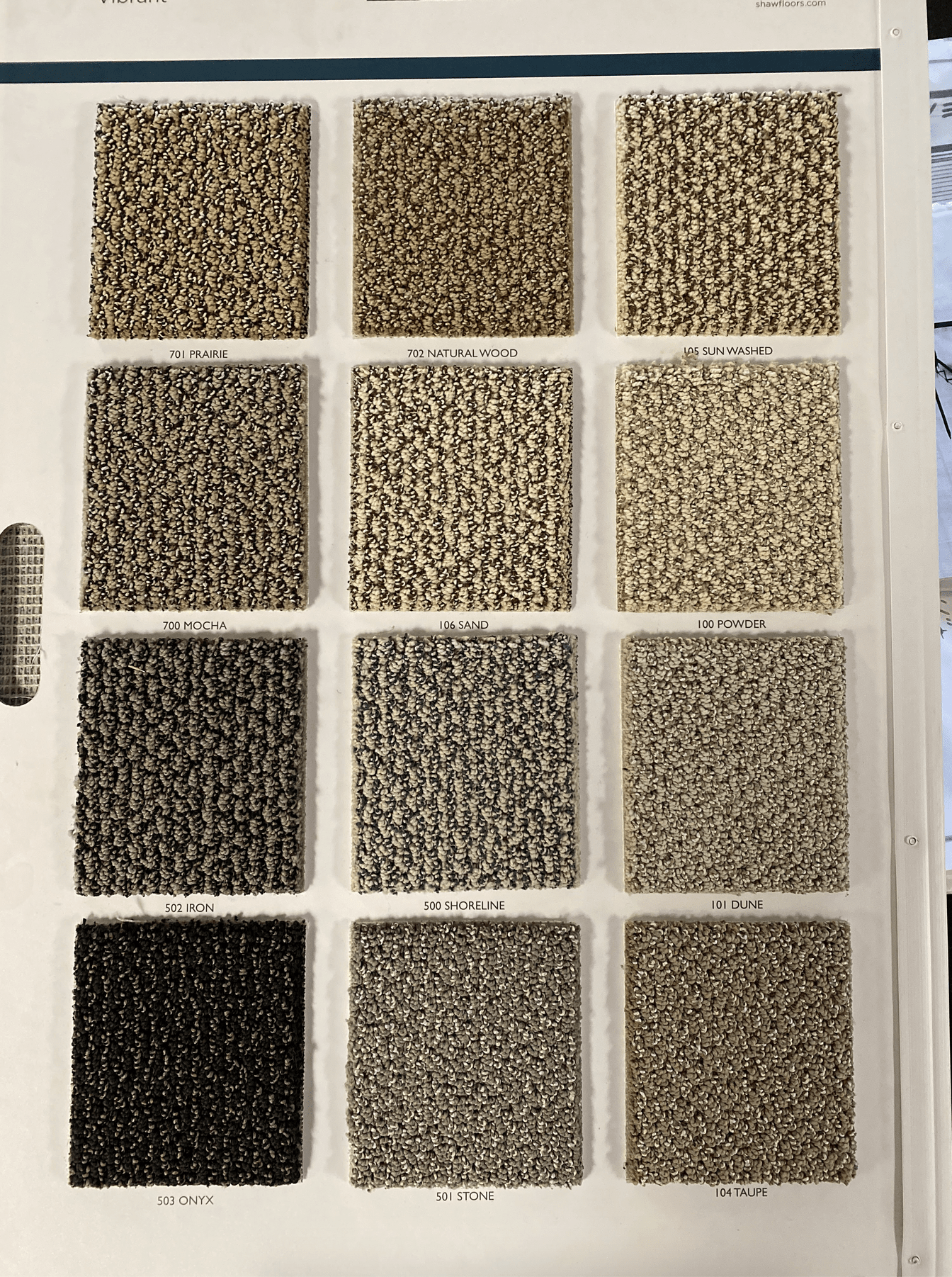 Carpet options in many different colors for your Louisville, KY home