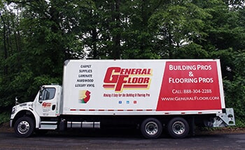 General Floor delivery truck servicing New Jersey, Delaware, and Pennsylvania