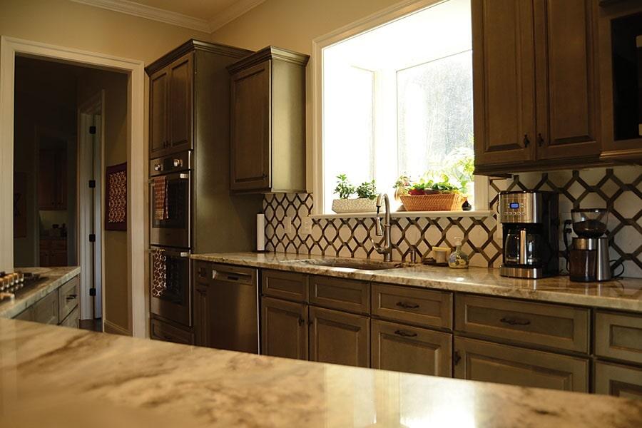 Glass tile backsplash (2)