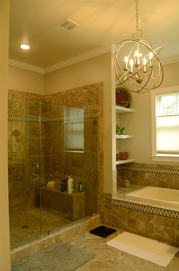 Tile bathroom and shower surround