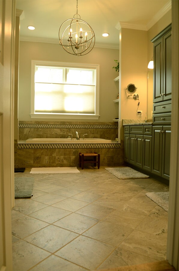 Tile bathroom and tub surround (2)