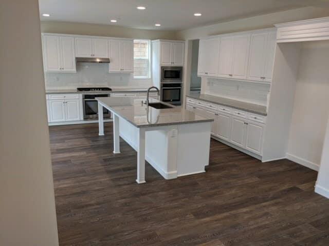Modern kitchen renovation in San Bernardino County from Hailo Flooring
