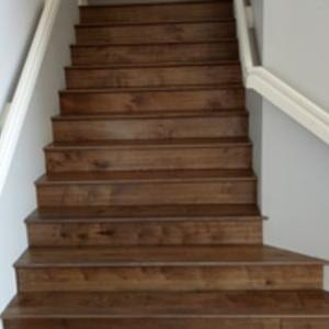 Natural hardwood stairs in Inland Empire from Hailo Flooring