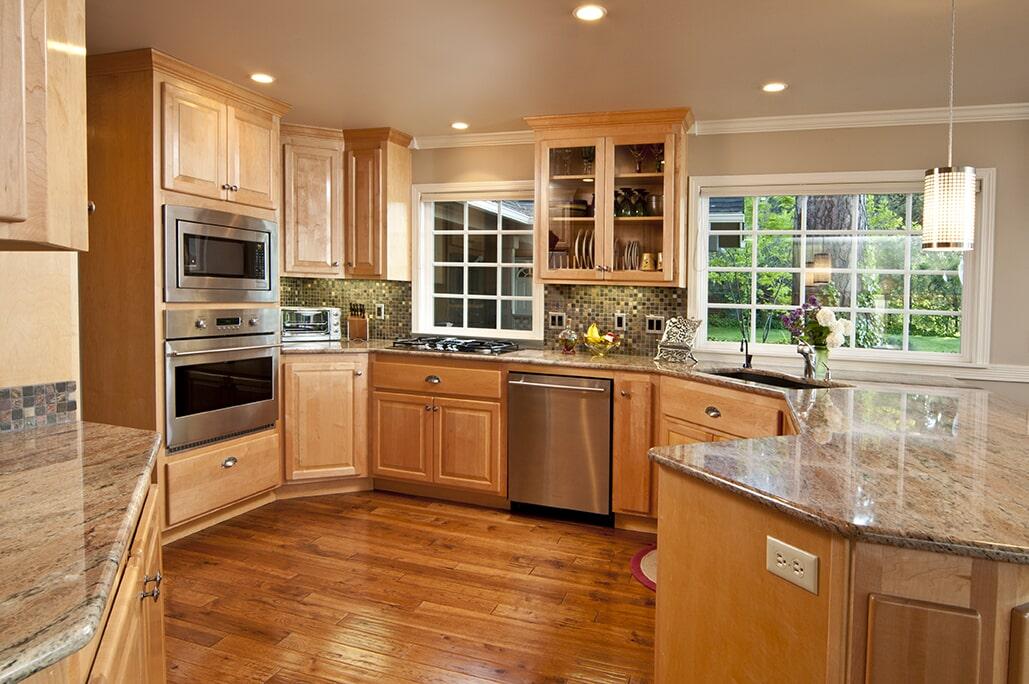Distressed Hardwood Floor in Kitchen from Schmidt Custom Floors in Fort Collins, CO