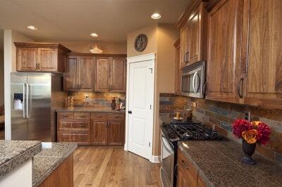 Kitchen Hardwood flooring at Schmidt Custom Floors in Fort Collins, CO