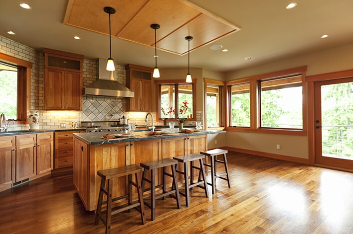 Kitchen Hardwood flooring at Schmidt Custom Floors in Loveland, CO