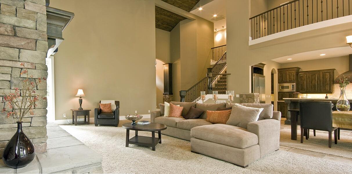 Carpeted Living Room at Schmidt Custom Floors in Boulder, CO