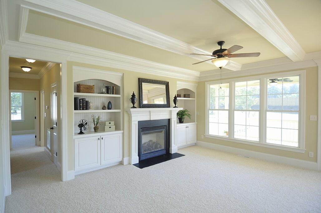 Fireplace Living Room at Schmidt Custom Floors in Windsor, CO