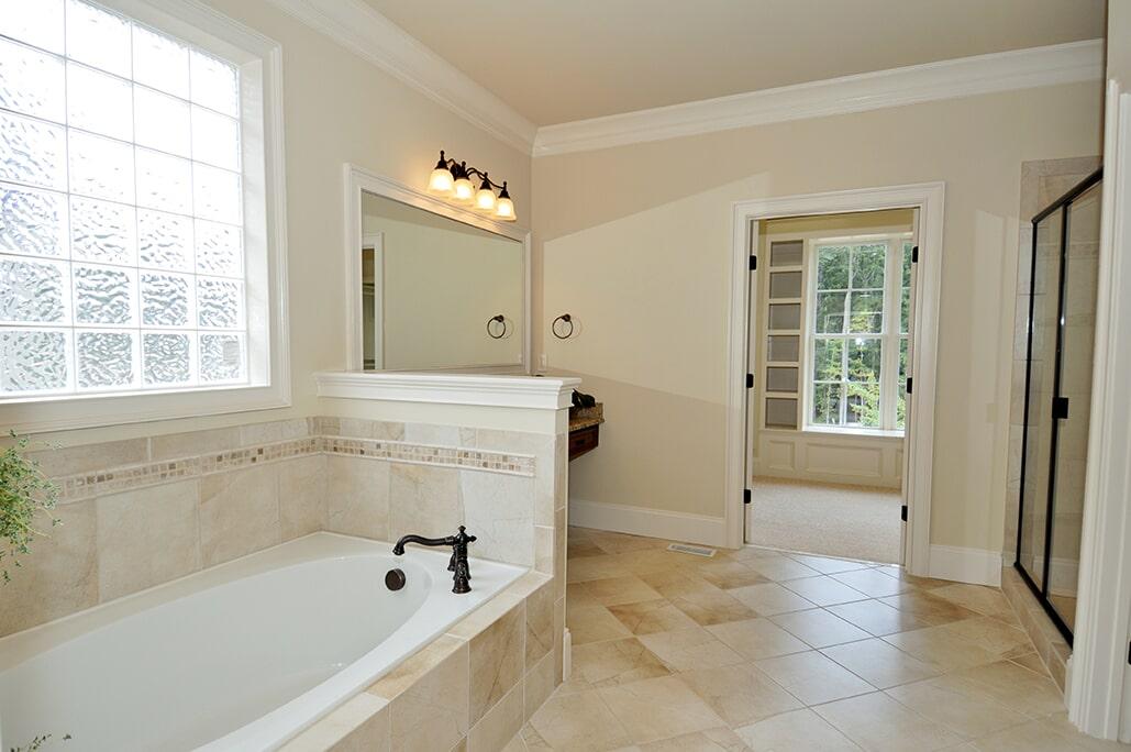 Master bath with tile from Schmidt Custom Floors in Loveland, CO