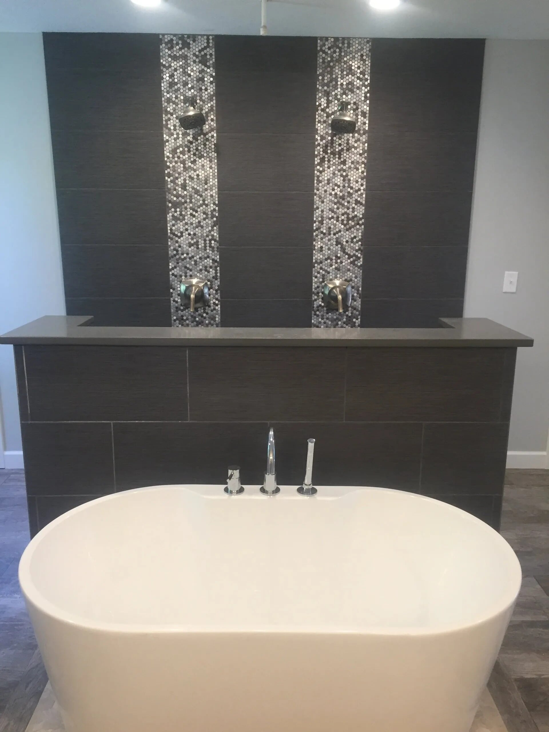Custom shower and soaking tub installation in Burnsville, MN from Infinite Floors and More