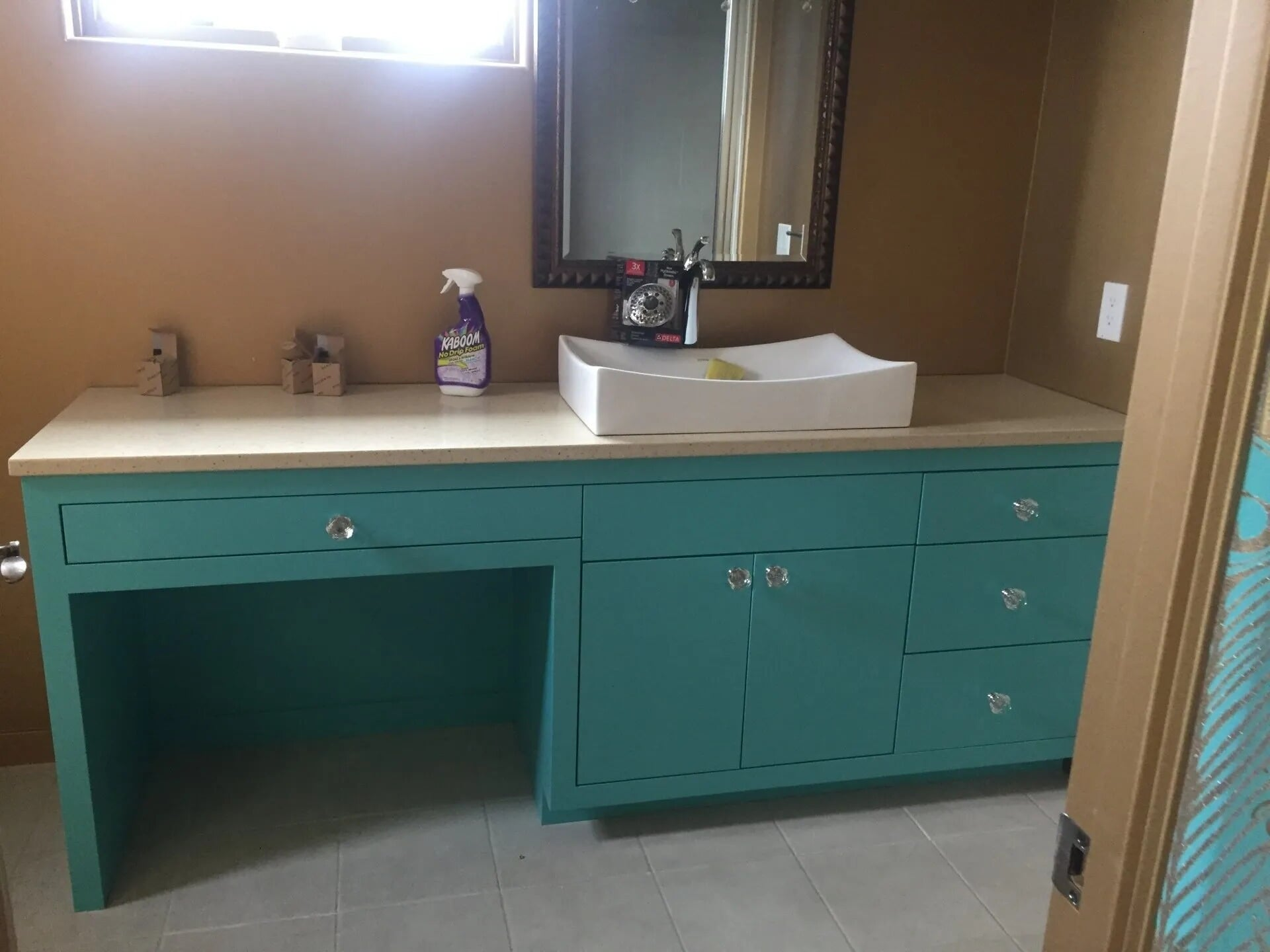 Bathroom vanity installation in Burnsville, MN from Infinite Floors and More