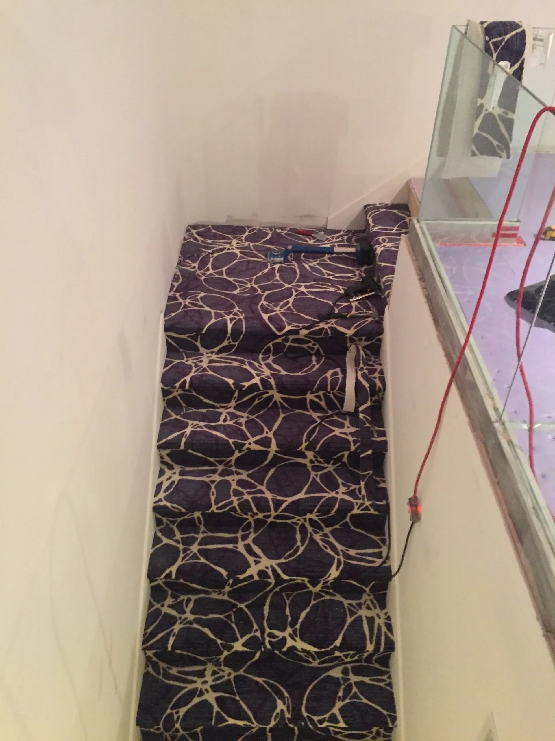 Custom carpeted stairs in Savage, MN from Infinite Floors and More