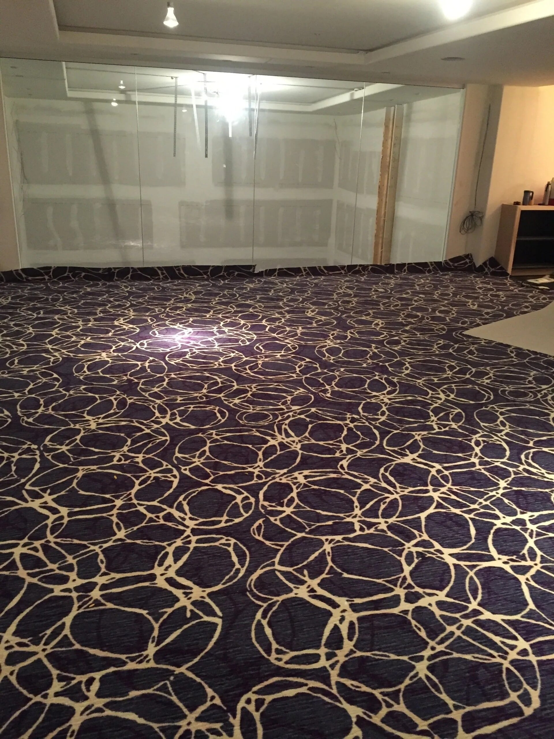 Blue and white patterned carpet flooring in Savage, MN from Infinite Floors and More