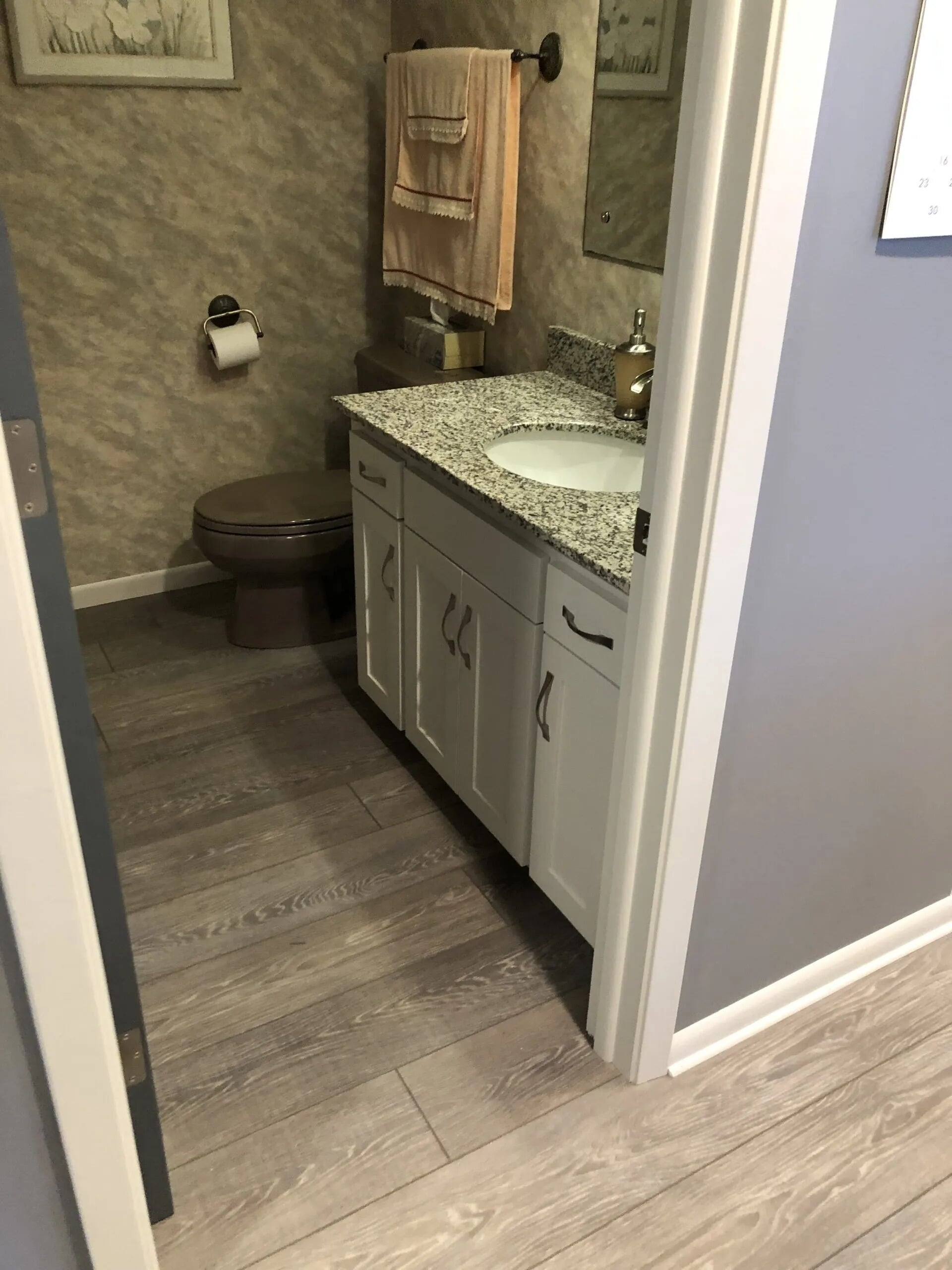 Modern bathroom remodel in Prior Lake, MN from Infinite Floors and More