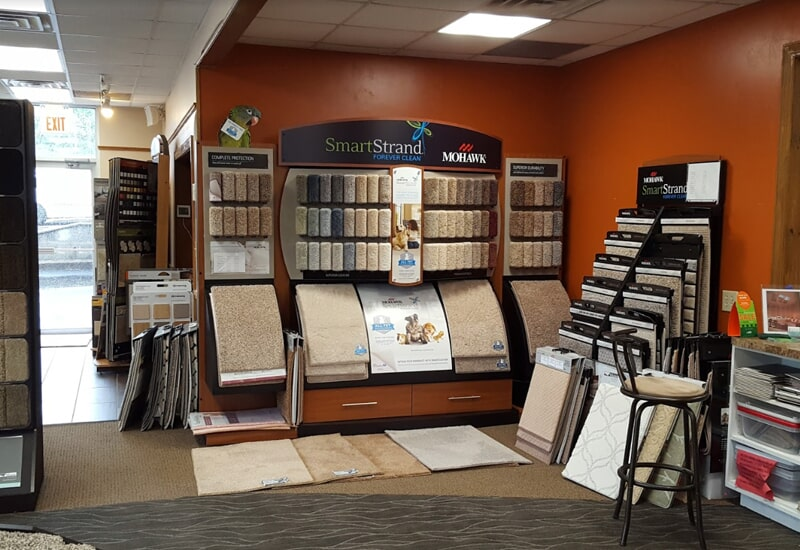 Olden Carpet and Flooring showroom in Newton, PA
