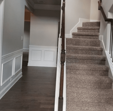 Carpet stairs from Suttles Flooring in Macon, GA