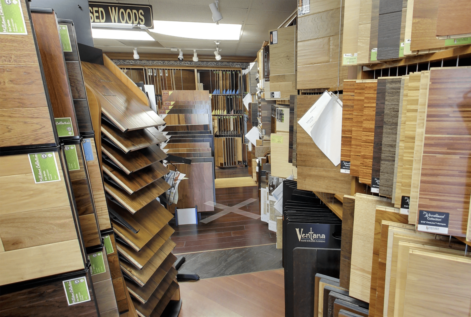 Flooring options even covering our own floors at Geneva Flooring in San Diego, CA