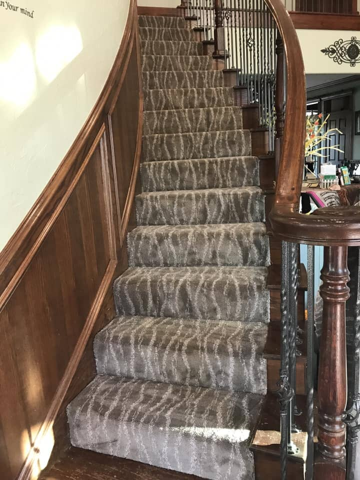 Beautiful carpet stair runner in Chickasha, OK from All American Home Center