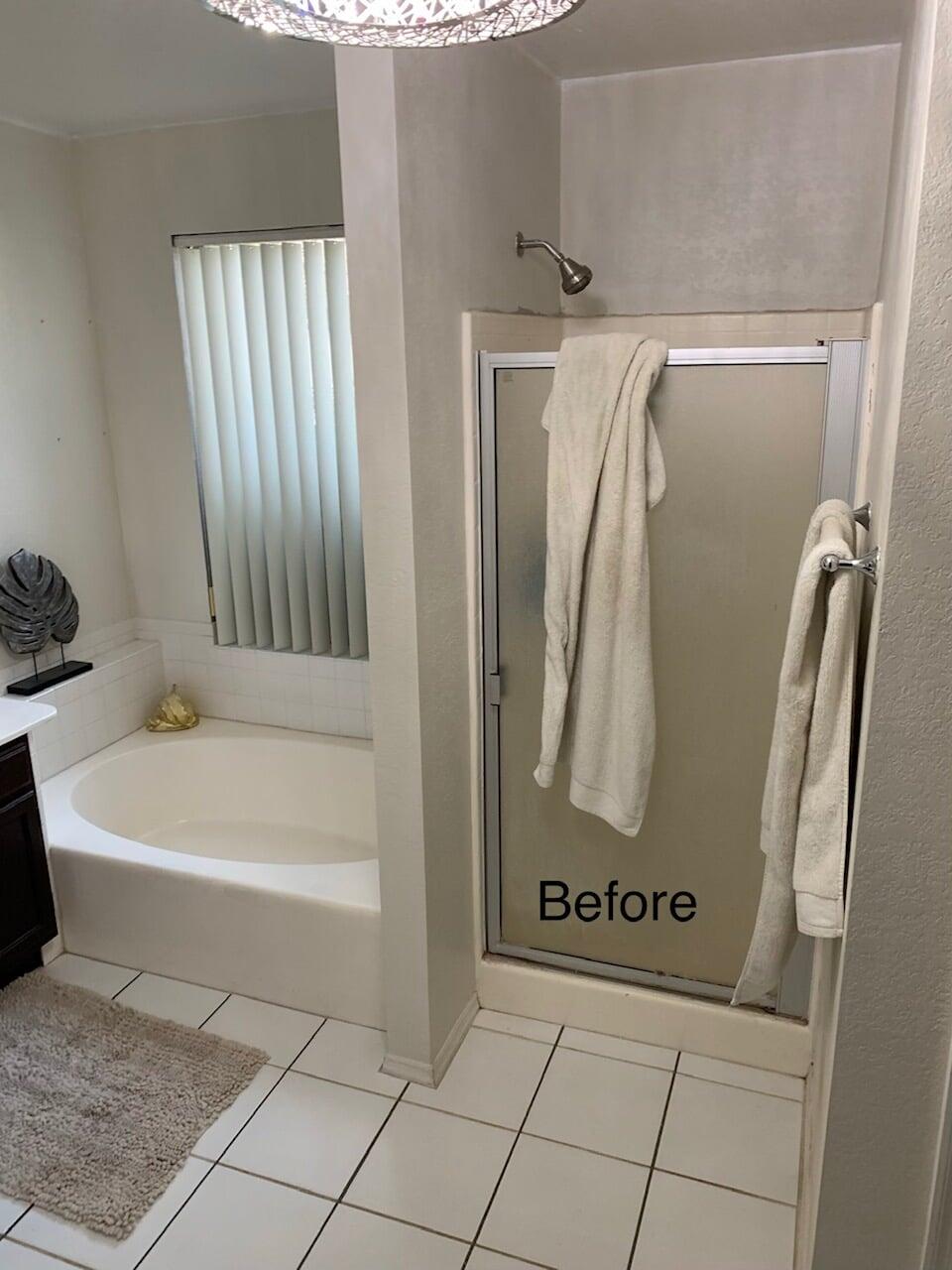 Before a professional bathroom renovation in Glendale, AZ