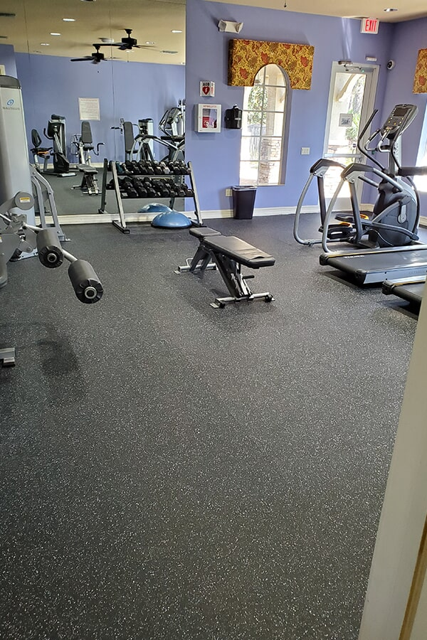 ProFlex Rubber Sports Flooring; Color Blue Gray N382368  in Stuart, FL by Floor Specialists of Martin County
