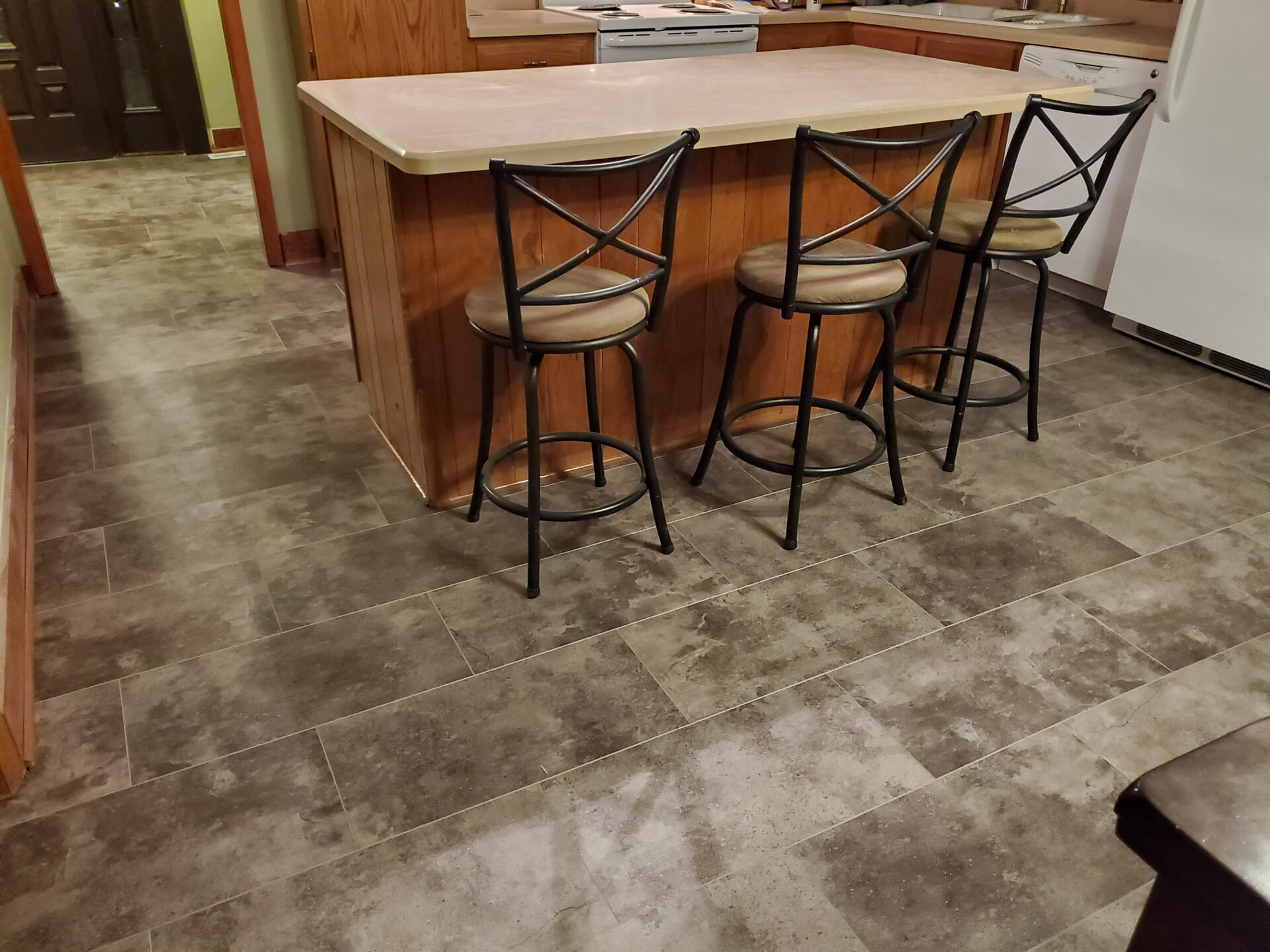 Rustic tile flooring in Lake Lure, NC from BPS Southeast