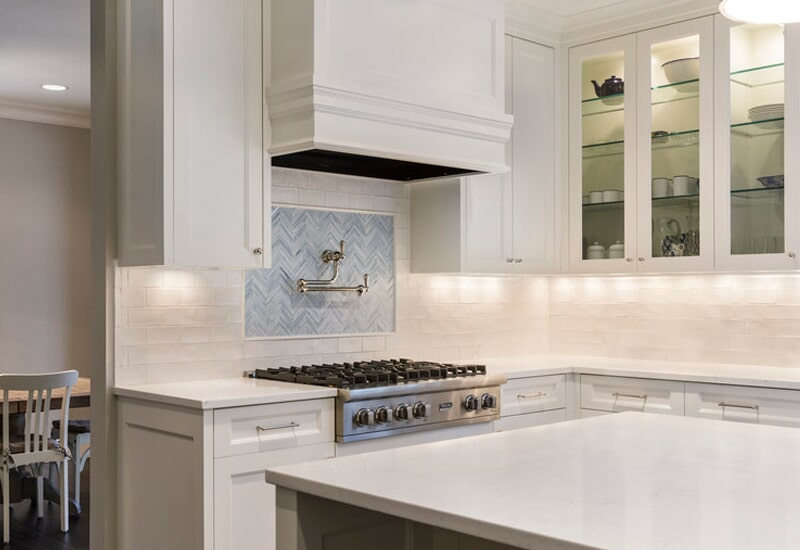 Tile accent backsplash in Vancouver, CN from All Surfaces
