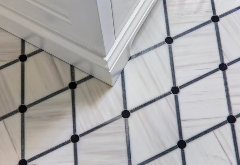 Diamond tile flooring in Sherwood, OR from All Surfaces