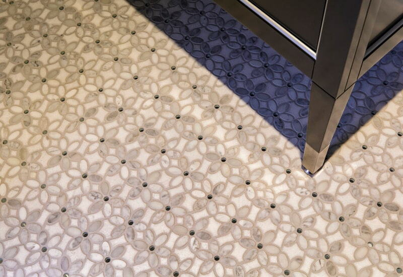 Floral tile flooring in Beaverton, OR from All Surfaces