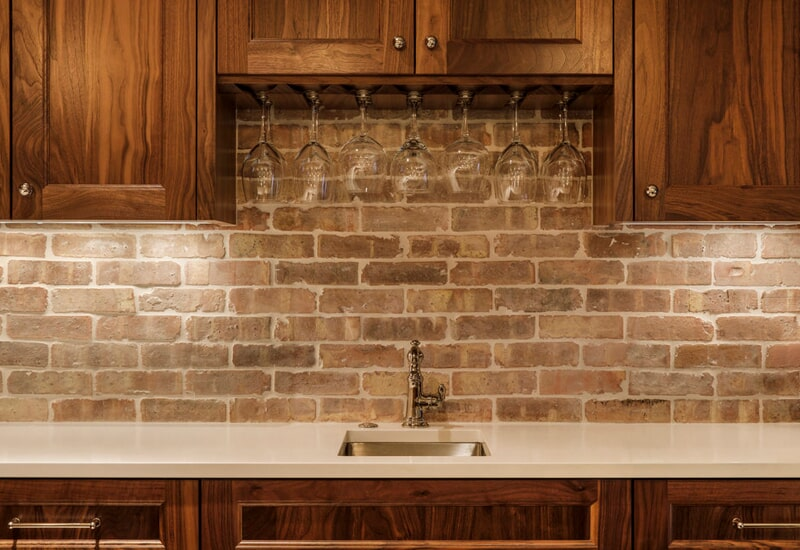 Brick backsplash in Vancouver, CN from All Surfaces