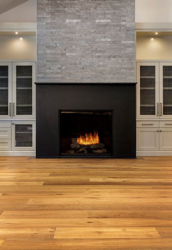Ledger stone fireplace surround in Beaverton, OR from All Surfaces