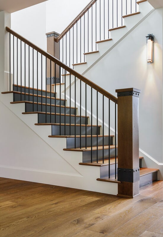 Custom stairway and handrail in Vancouver, CN from All Surfaces