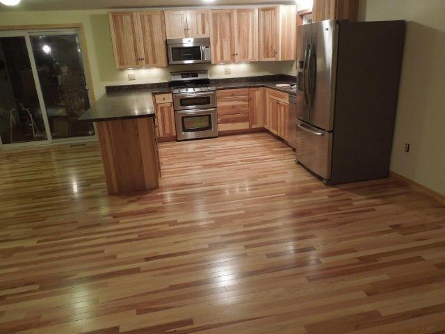 Hickory hardwood floors & cabinets in Canterbury NH