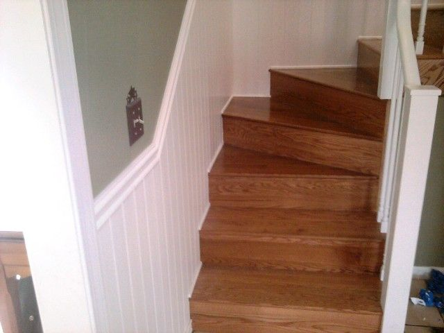 Natural hardwood against white trim in Manchester, NH from ADF Flooring LLC