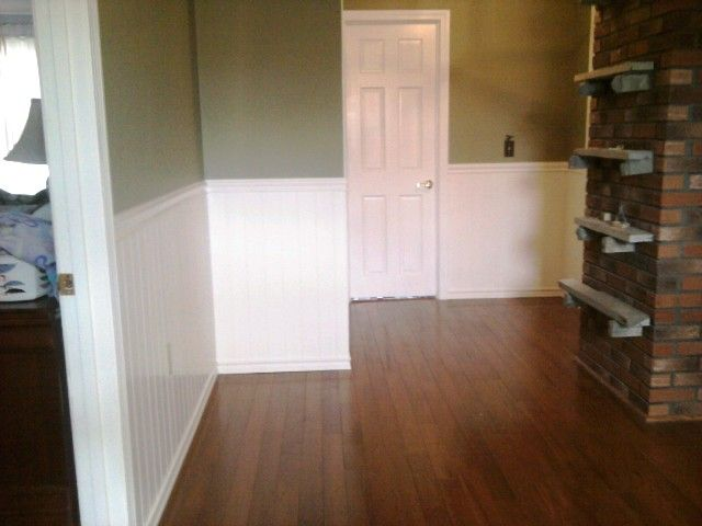 Beautiful white trim in Plymouth, NH from ADF Flooring LLC