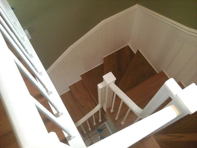 Hardwood stairway in Plymouth, NH from ADF Flooring LLC