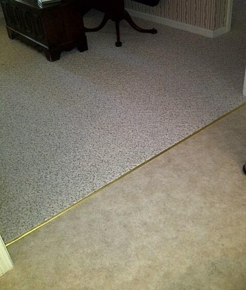 Carpet transition installation in Berlin, NH from ADF Flooring LLC