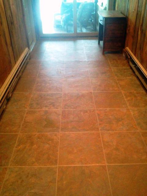 Travertine tile flooring in Berlin, NH from ADF Flooring LLC