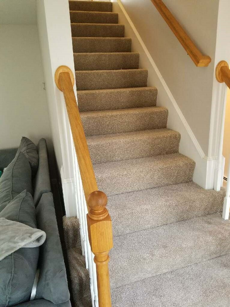 Classic carpeted stairs in Berlin, NH from ADF Flooring LLC
