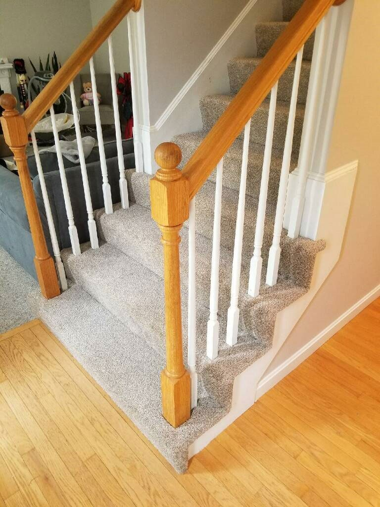 Perfectly carpeted stairs in Berlin, NH from ADF Flooring LLC