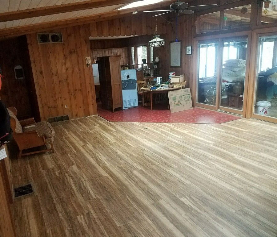 Hardwood to tile installation in Plymouth, NH from ADF Flooring LLC