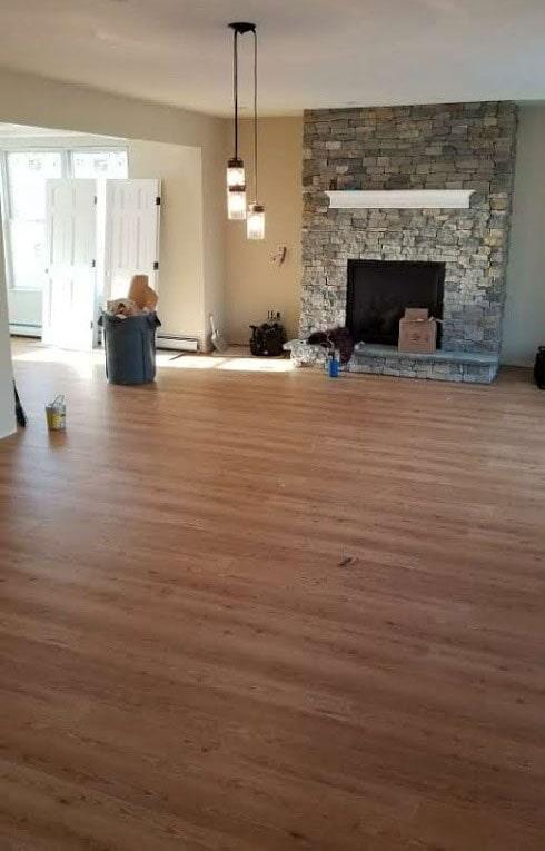 Hardwood flooring living space in Berlin, NH from ADF Flooring LLC