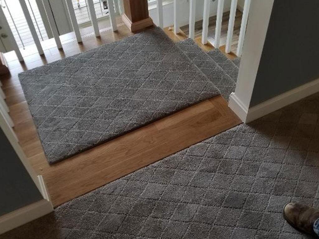 Carpet transition in Berlin, NH from ADF Flooring LLC