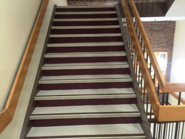 Custom commercial stairway in Nashua, NH from ADF Flooring LLC