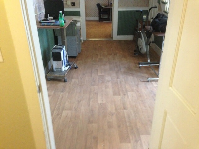 Wood look commercial office flooring in Plymouth, NH from ADF Flooring LLC