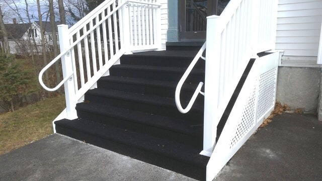 Commercial outdoor stairway installation in Berlin, NH from ADF Flooring LLC
