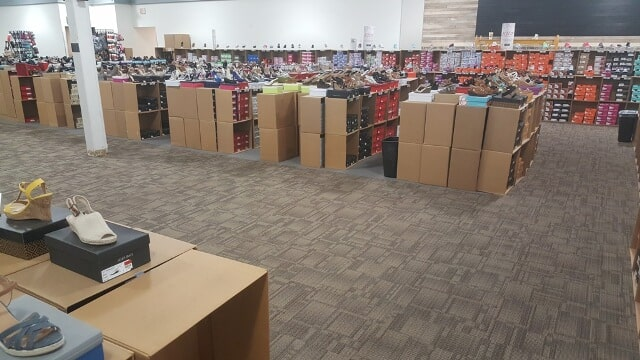 Commercial carpet in a retail space in Berlin, NH from ADF Flooring LLC